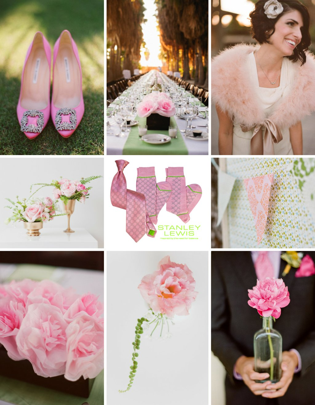 Pink-green-wedding-style-board-stanley-lewis-grooms-giveaway.full