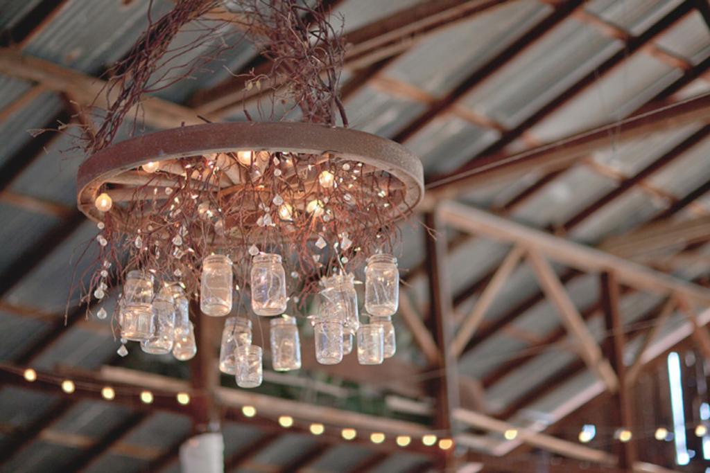 dramatic mason jar chandelier for wedding reception venue – Mason Jar Chandelier Diy