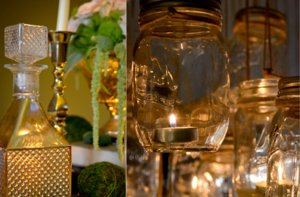 photo of Romantic Vintage Wedding Inspiration: Antique Treasures, Mason Jars & Moss