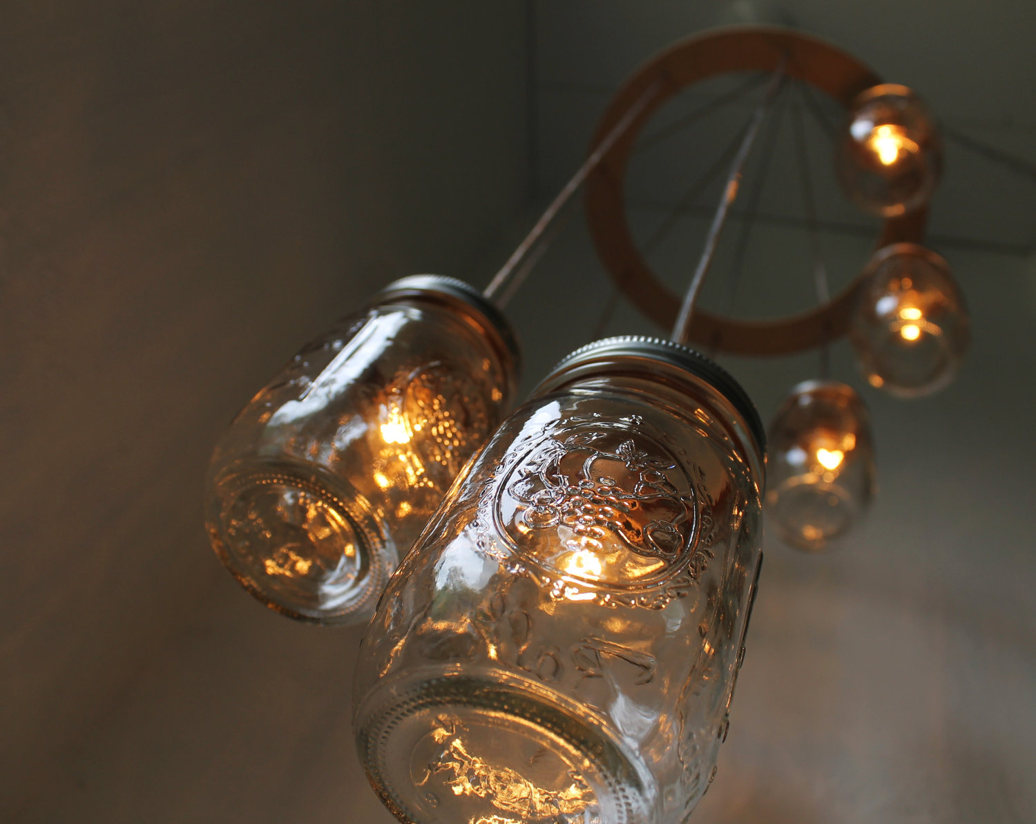 Diy Wedding Projects Finds On Etsy For Vintage Brides Mason Jar Chandelier 1