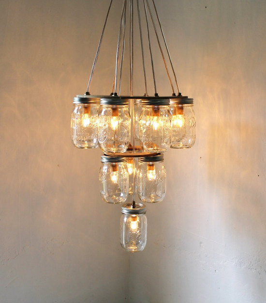 photo of diy wedding projects finds on etsy for vintage brides mason jar chandelier 1