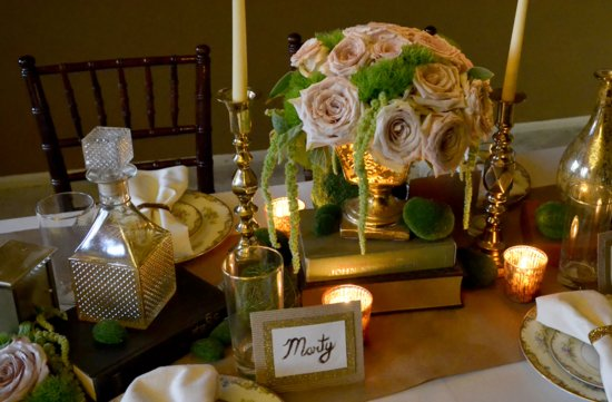 elegant vintage wedding inspiration candlelit wedding venue mason jar chandelier 4