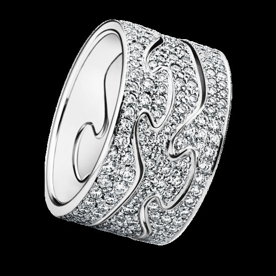 unique wedding bands for brides Georg Jensen Fushion Ring customize online diamond encrusted