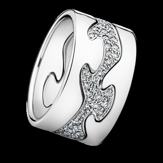 unique wedding bands for brides Georg Jensen Fushion Ring customize online platinum diamonds