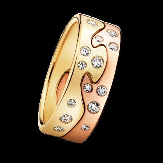 unique wedding bands for brides Georg Jensen Fushion Ring customize online rose yellow gold 1