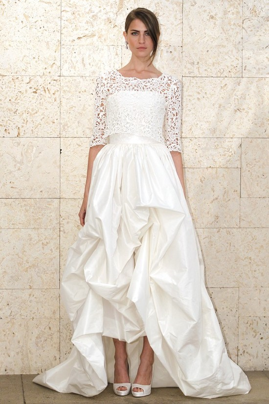 wedding dress oscar de la renta bridal gown spring 2012 2