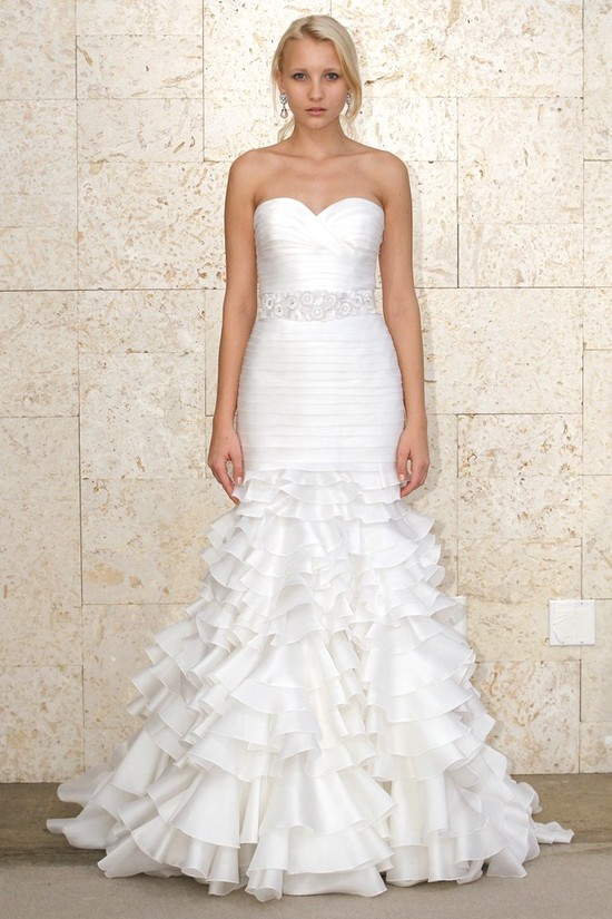 wedding dress oscar de la renta bridal gown spring 2012 1