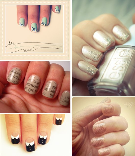 neutral wedding nail colors funky art for brides
