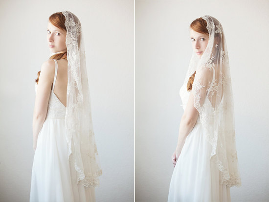 photo of Timeless Romance small mantilla veil
