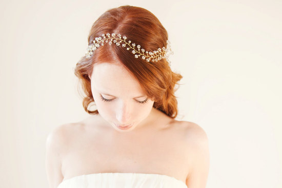 whimsical wedding headband for chic bohemian brides