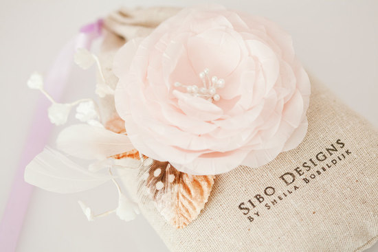 photo of Autumn Blush wedding hair flower