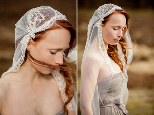 photo of Cathedral length tulle veil by SIBO Designs