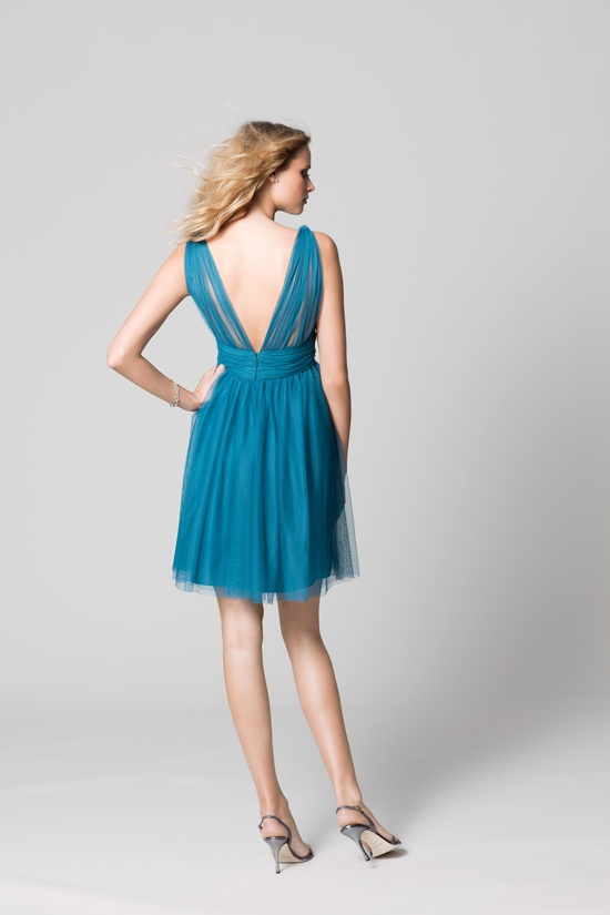 affordable bridesmaids dresses Fall 2012 WTOO by Watters bridal party teal v neck