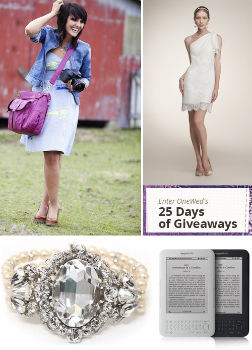 25 days of wedding giveaways for brides
