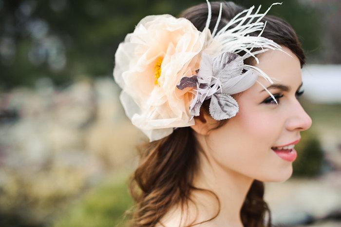 Peach-gray-feather-wedding-headpiece.full