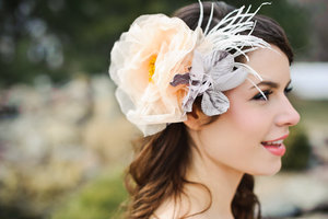 photo of Madeline bridal fascinator