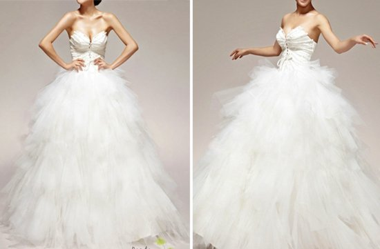 photo of Feather bodice ball gown