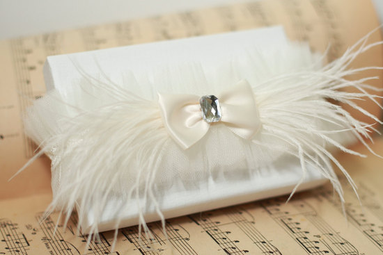 photo of Ostrich feather bridal garter