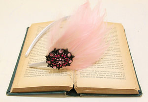 photo of Cotton candy pink feather fascinator