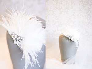 photo of Vintage glam wedding hair accessory