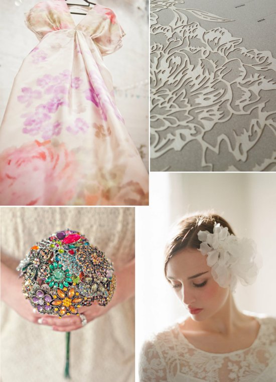 floral inspired wedding style board romantic wedding themes accessories