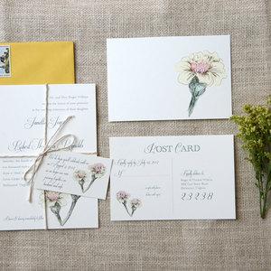 handpainted floral wedding invitation RSVP