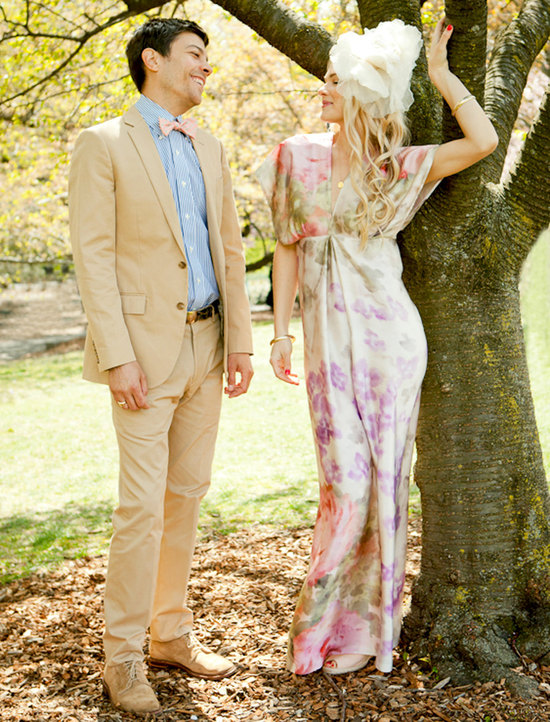 photo of Dahl NYC floral wedding dress
