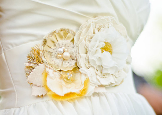 photo of Floral wedding sash