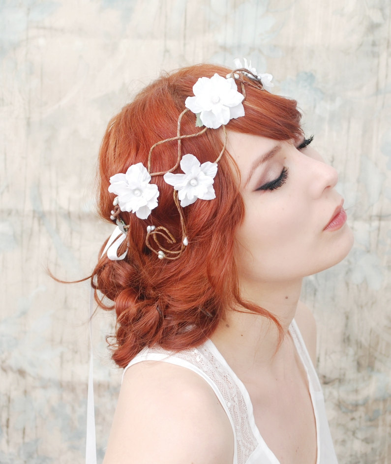 photo of Romantic floral crown