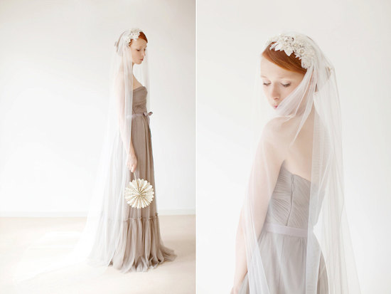 cathedral length bridal veil tulle romantic