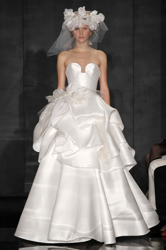 wedding dress reem acra bridal fall 2012 25