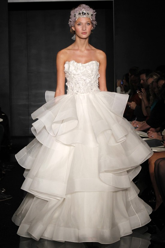 wedding dress reem acra bridal fall 2012 24