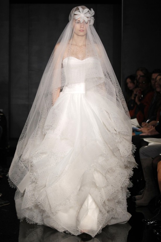 wedding dress reem acra bridal fall 2012 23