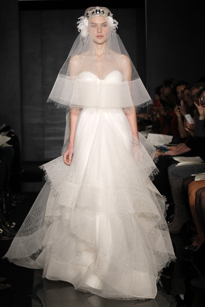 wedding dress reem acra bridal fall 2012 22
