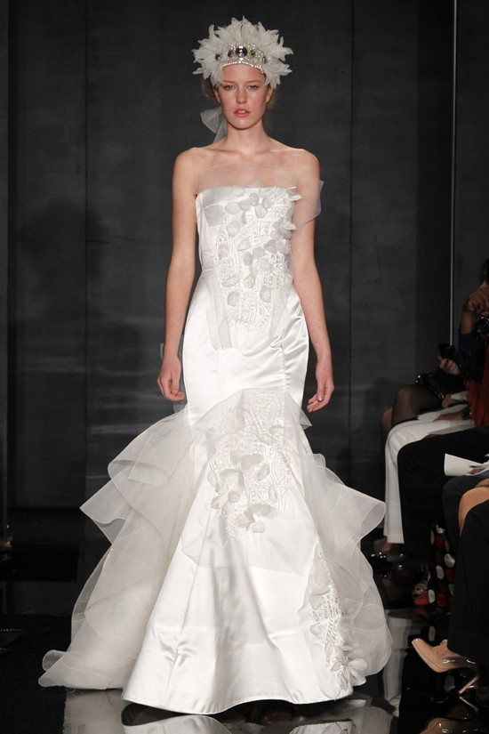 wedding dress reem acra bridal fall 2012 21