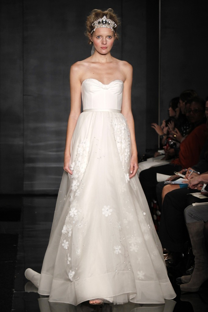 wedding dress reem acra bridal fall 2012 18