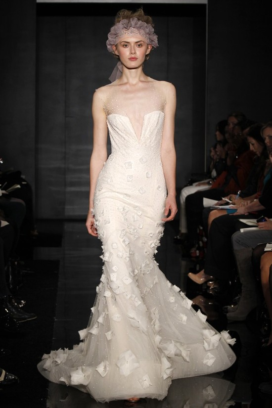 wedding dress reem acra bridal fall 2012 17