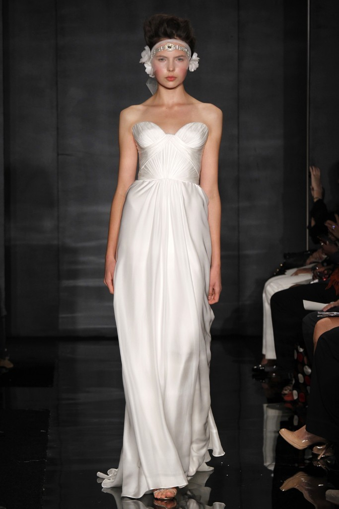 wedding dress reem acra bridal fall 2012 16