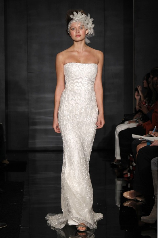 wedding dress reem acra bridal fall 2012 15