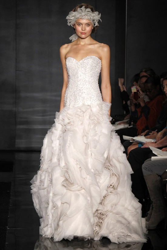 wedding dress reem acra bridal fall 2012 14