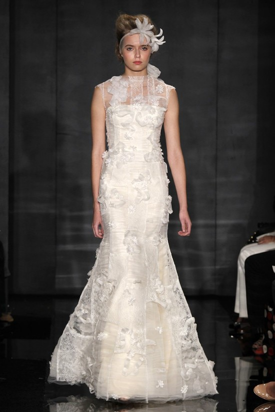 wedding dress reem acra bridal fall 2012 11