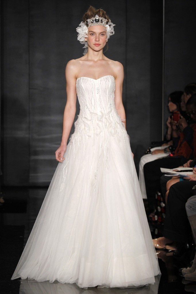 wedding dress reem acra bridal fall 2012 10