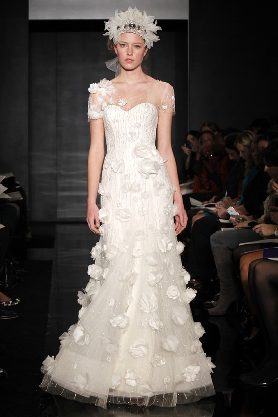wedding dress reem acra bridal fall 2012 9