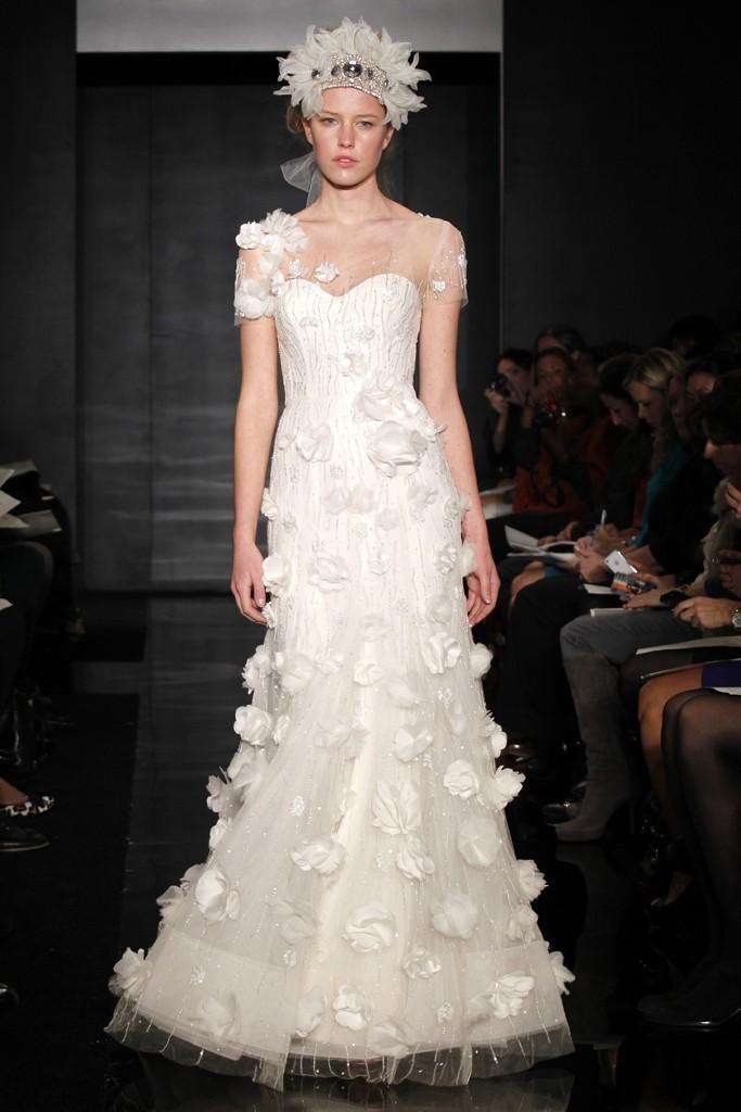 Wedding dress reem acra bridal fall 2012 9 for Wedding dresses reem acra