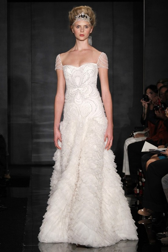 photo of wedding dress reem acra bridal fall 2012 7