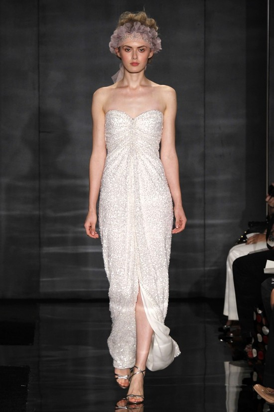 wedding dress reem acra bridal fall 2012 5