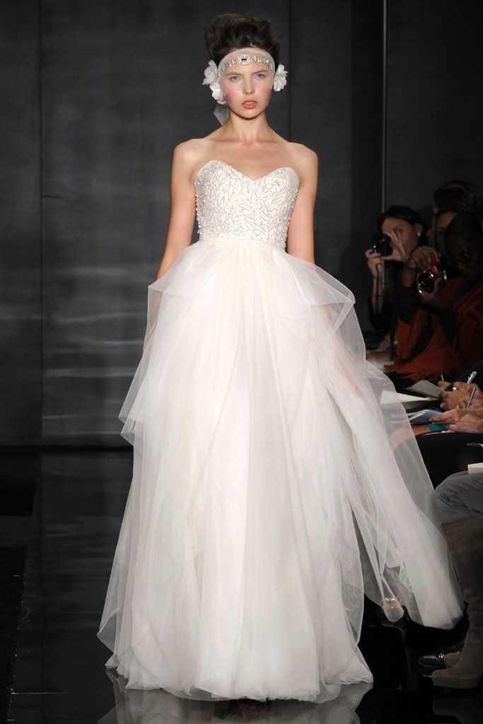 wedding dress reem acra bridal fall 2012 4