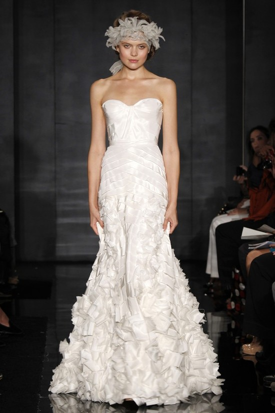wedding dress reem acra bridal fall 2012 2