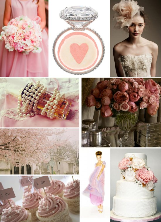 pretty pink wedding inspiration vintage romance