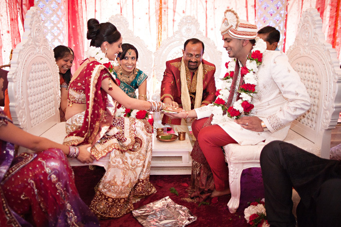 cultural real wedding Indian weddings Chicago IL gold red mahogony rituals ceremony